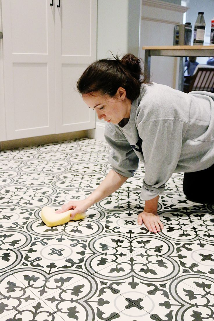 how to install cement tile flooring