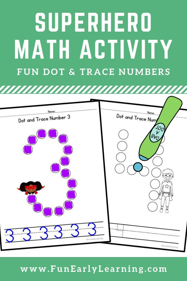 Dot And Trace Numbers With Superheroes Math Activity Kindergarten Writing Math Activities Superhero Math Activities [ 1102 x 735 Pixel ]
