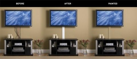 how to hide cords on a wall-mounted TV