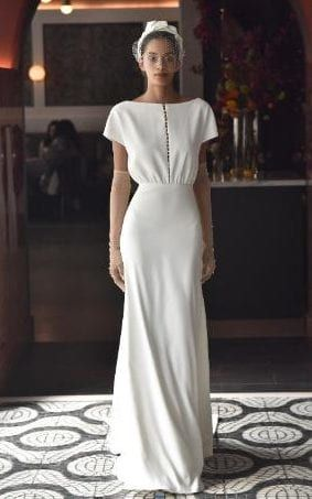 Lela Rose spring 2018 bridal, Temperley London and Lela Rose led the charge of designers doing figure-hugging Forties-style dresses. Think Pippa Middleton's bridesmaid dress at the Duke and Duchess of Cambridge's wedding, as your reference.