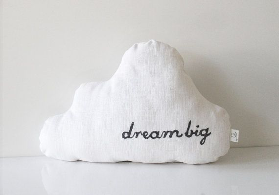 LOVE this. :: Cloud pillow by BeanieonHelinaSHOP