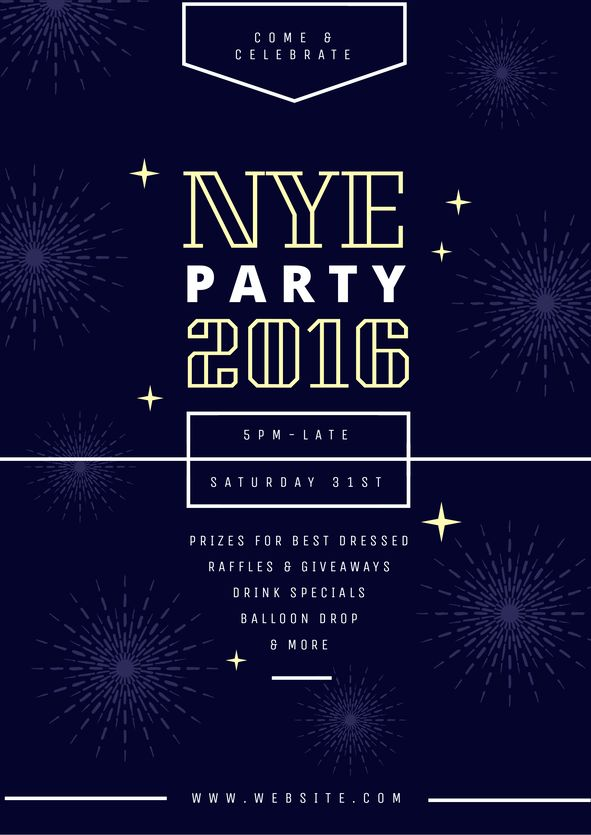25 best New Years Eve DIY Graphic Design Templates images on - new year poster template