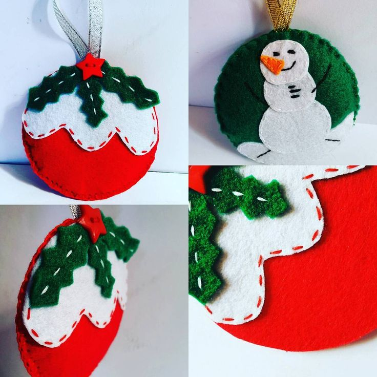 14 Adorable DIY Christmas Felt Ornaments For