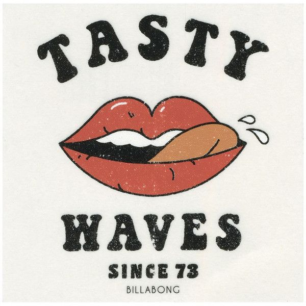 Billabong Tasty Waves Sticker ($3.99) ❤ liked on Polyvore featuring home, home decor, office accessories, billabong sticker and billabong