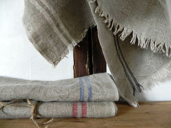French torchon linen dishtowels Antique French by ChicFrangine
