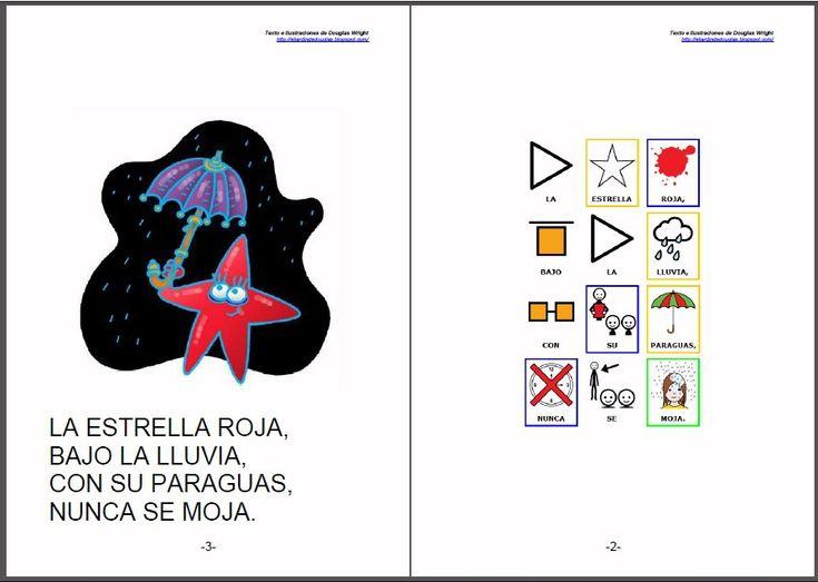 """CUENTOS ADAPTADOS - """"Las estrellas"""".    Adaptación de cuentos y poesías de Douglas Wright a pictogramas para la comunicación.    Douglas Wright es ilustrador, humorista, creador de juegos visuales y autor de libros para chicos. Sus dibujos aparecen en libros y revistas de la Argentina y en diarios de otros países.     http://arasaac.org/materiales.php?id_material=578    Fuentes:  http://eljardindedouglas.blogspot.com/   http://otrosdouglas.blogspot.com/"""