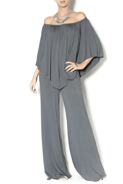 James and Joi | Off Shoulder Jumpsuit #JamesandJoi #jumpsuit