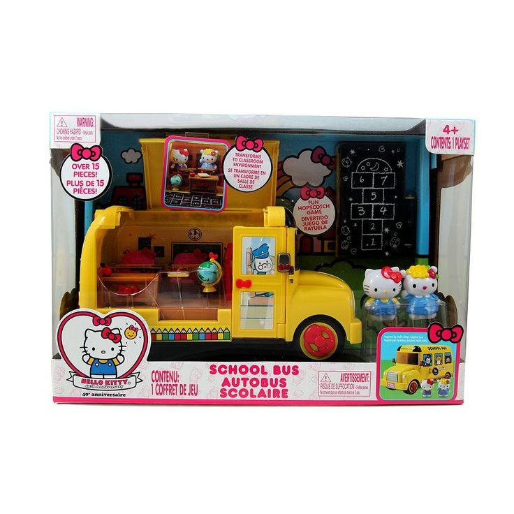 Hello Kitty® School Bus Set, Multicolor