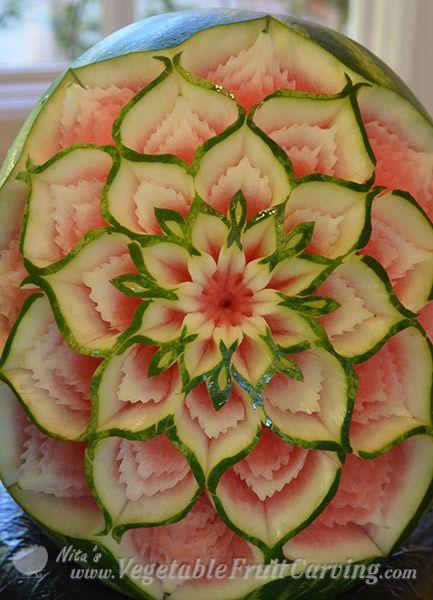 Thai watermelon carving by Nita-Gill