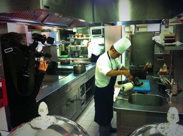 Eric Frechon at work in Hotel le Bristol's kitchens