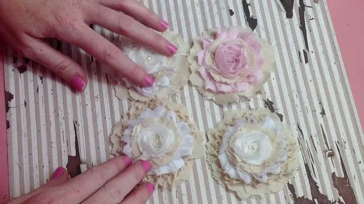 Simple Shabby Handmade Flower Tutorial http://www.youtube.com/user/LavishLaces