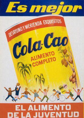 función comercial: representa como a los niños les gusta tomar cola-cao y lo energético que es para su dia a dia