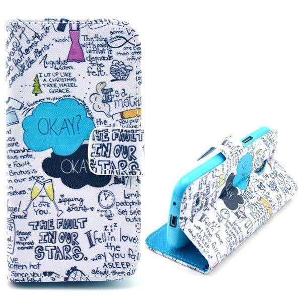 Quotes booktype hoesje voor Samsung Galaxy S4 mini