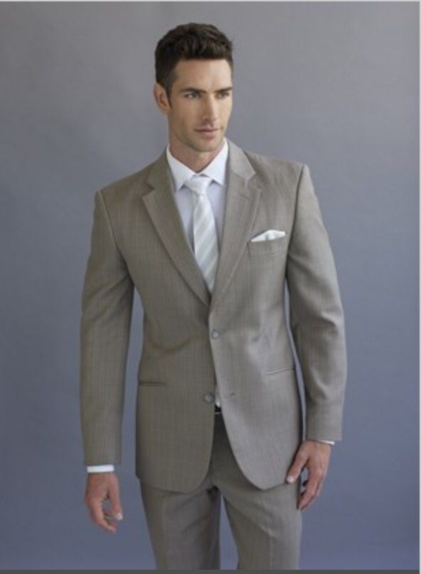 Peppers Formal Wear Beige Brown Suit Beach Wedding Garden