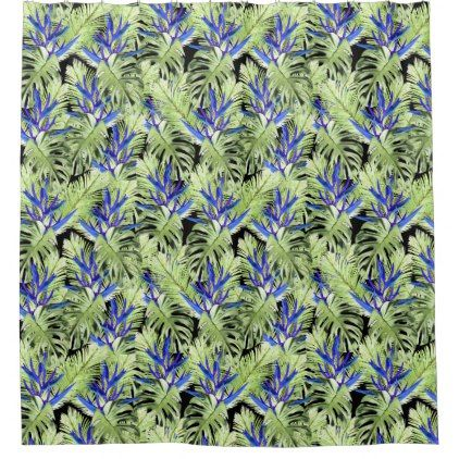 #Tropical plant 2 shower curtain - #Bathroom #Accessories #home #living