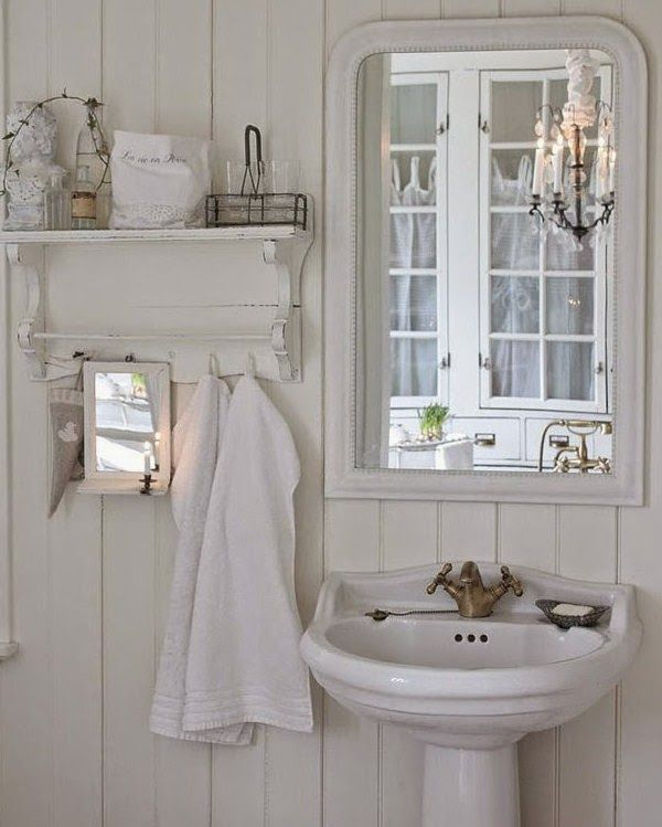 Shabby Chic Bathroom Curtain Ideas : Shabby chic con amore casa bath ideas