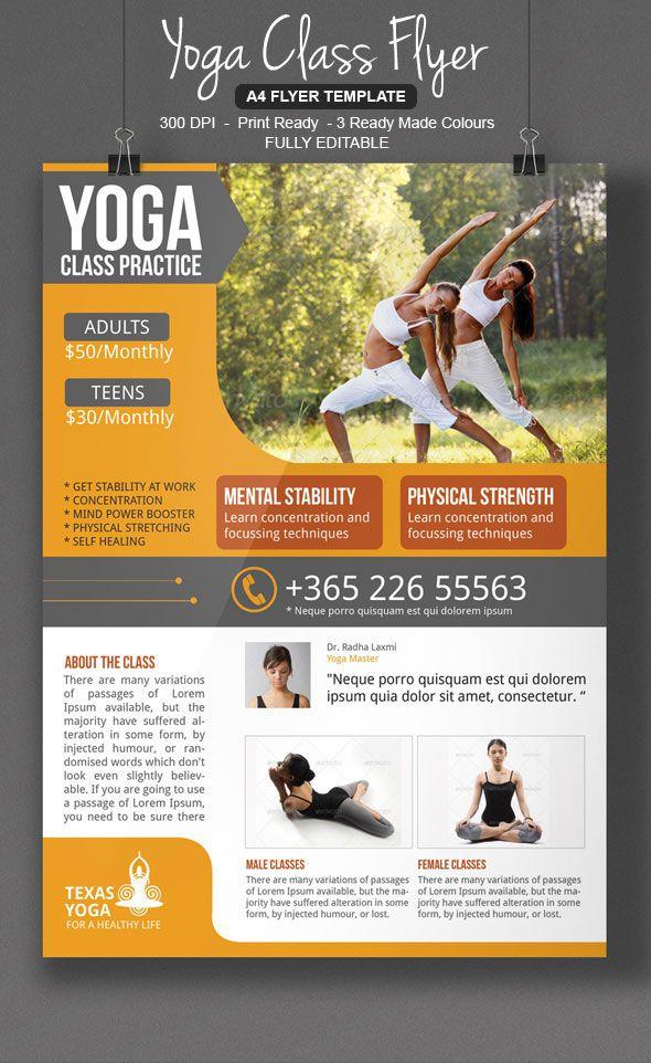 29 best Flyer Design images on Pinterest Flyer design, Flyer - yoga flyer
