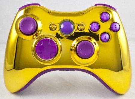 Gold/Purple Xbox 360 Modded Controller (Rapid Fire) COD MW3, Black Ops 2, MW2, MOD GAMEPAD  $139.99 Amazing Discounts  Your #1 Source for Video Games, Consoles & Accessories! Multicitygames.com Click On Pins For More Info