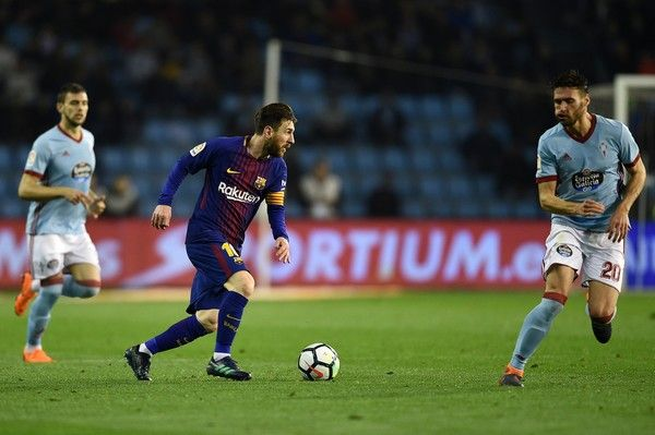 Celta De Vigo Vs Barcelona La Liga Messi Lesionado Messi Barcelona