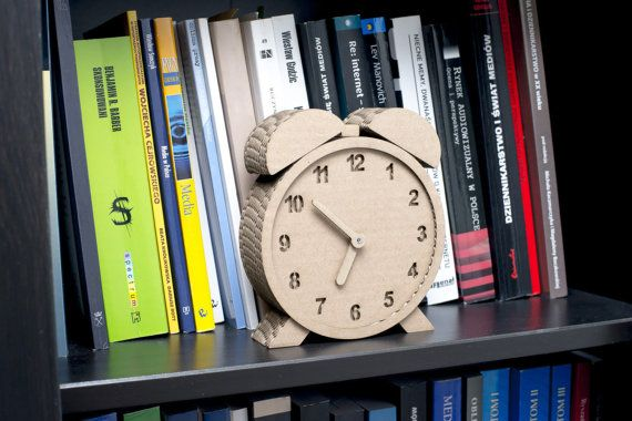 Clock Chrono Wall 3D Puzzle DIY Kit Paper recycled