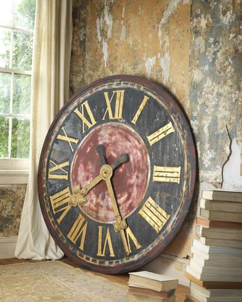 love this paletteClocks Wall, Giants Clocks, Classic Clocks, Clocks Timeless, Rustic Clocks, Fathers Time, Clocks Timepiece, Ordinairi Decor, Wall Clocks
