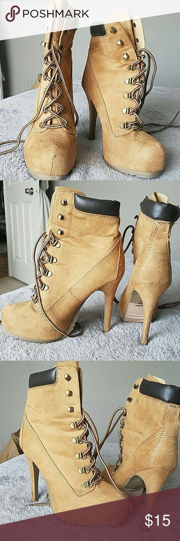 "High heel boots Rue21 ""Timberlake heels"" 2 inch platform  5 inch heel. Very comfortable . Rue 21 Shoes Ankle Boots & Booties"