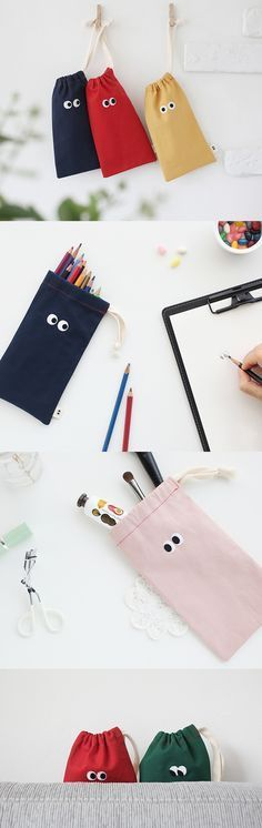 Looking for an adorable pouch? Well, look no further! This cute drawstring pouch can carry your essentials & it'll have all eyes on you!