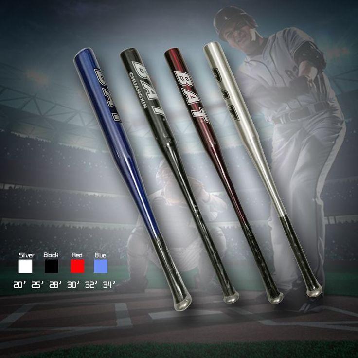 Four colorAluminium Alloy Baseball Bat Of The Bit Softball Bats 20'25' 28' 32'34' inch Outdoor Sports Fitness Equipment HW195
