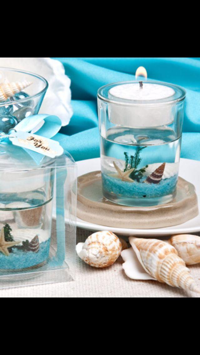 Tiffany blue and nautical tables decor