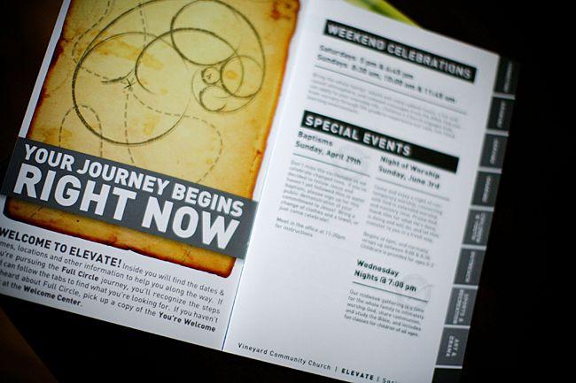Vineyard Community Church Welcome Kit | Bean Graphics, Inc. | Indianapolis Web, Print and Branding