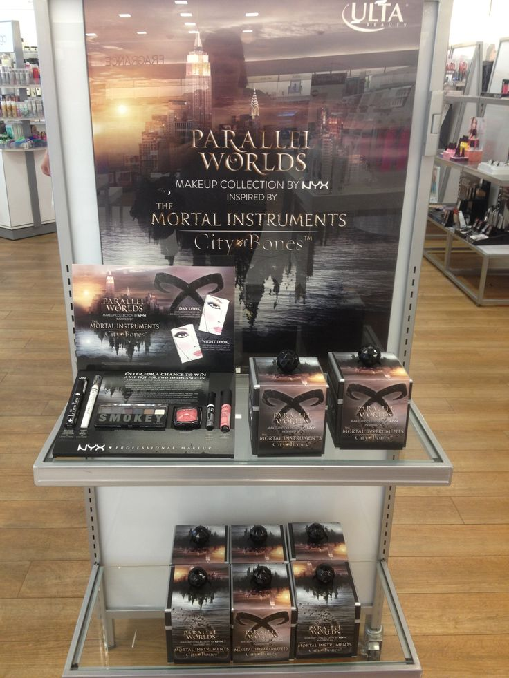 MORTAL INSTRUMENTS makeup collection 'Parallel Worlds' by NYX on display at Ulta