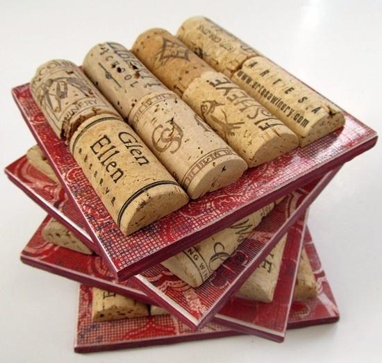 Posavasos con tapones de corcho reciclado reciclado for Cork art ideas