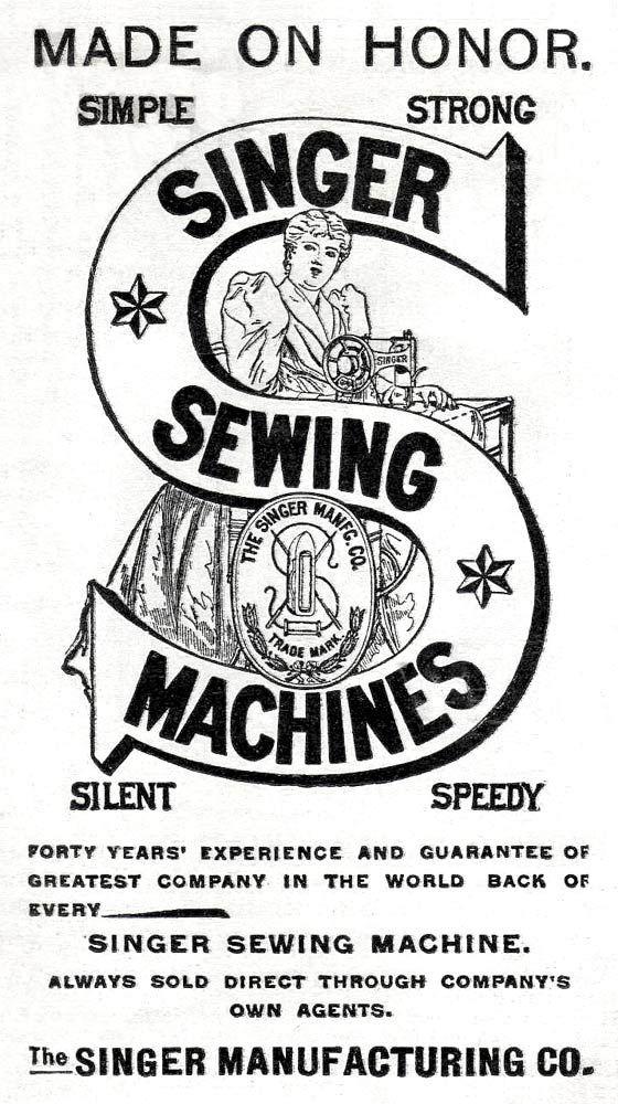 Singer sewing machines vintage logo                                                                                                                                                                                 More