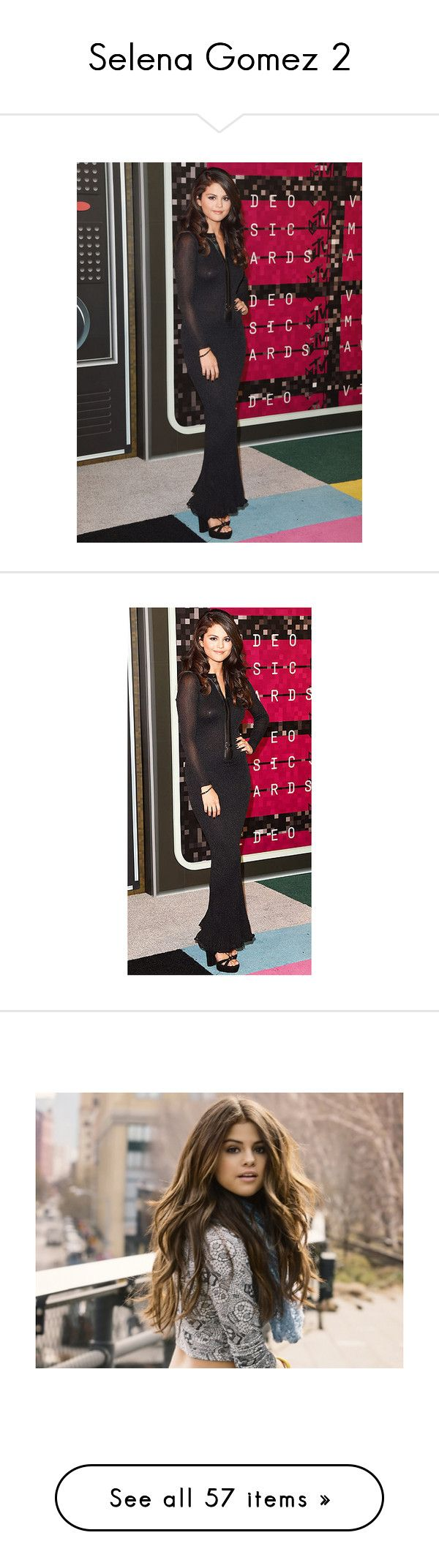 """Selena Gomez 2"" by croonessii ❤ liked on Polyvore featuring selena gomez, people, selena, hair, pictures, black&white, dresses, red carpet, beauty products and haircare"