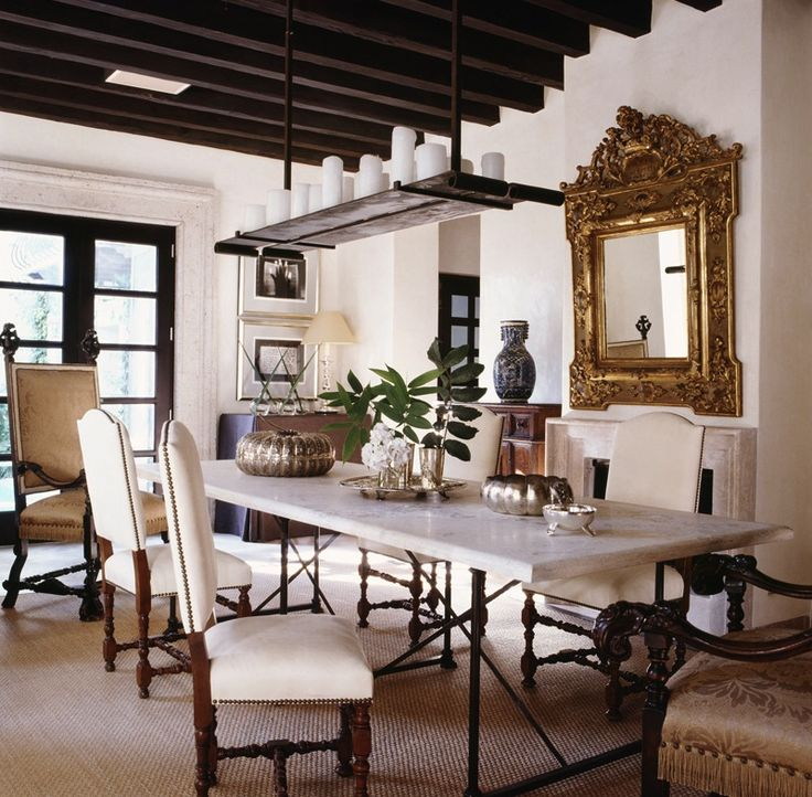 Dining Space By Mcalpine Booth Ferrierdark Beams Am Door Frames With Spanish ColonialSpanish