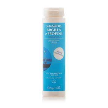 Shampoo Argilla e Propoli,  all'Argilla bianca e Propoli (200 ml) - azione purificante - capelli grassi