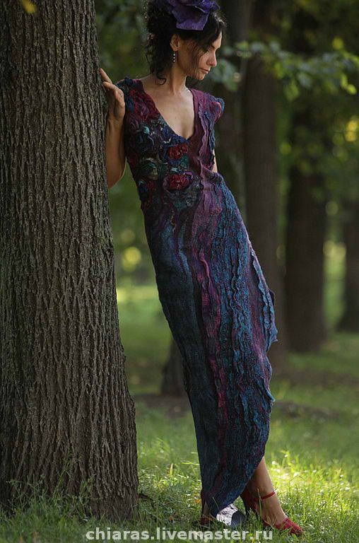 nuno felt dress by Irena Levkovich - beautiful