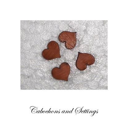Show details for Heart Cabochons Tasmanian Myrtle Laser Cut For Earrings etc . Made in AUSTRALIA
