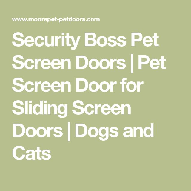 Security Boss Pet Screen Doors | Pet Screen Door for Sliding Screen Doors | Dogs and Cats