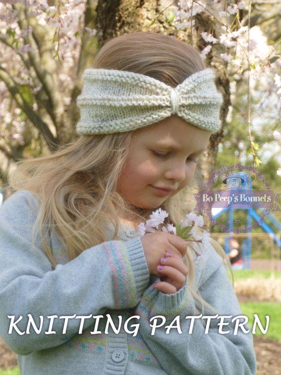 KNITTING PATTERN Turban Headband, Knit Turban Headwrap Pattern, Knitted Twist Headband Ear Warmer PATTERN (Toddler, Child, Adult Sizes)