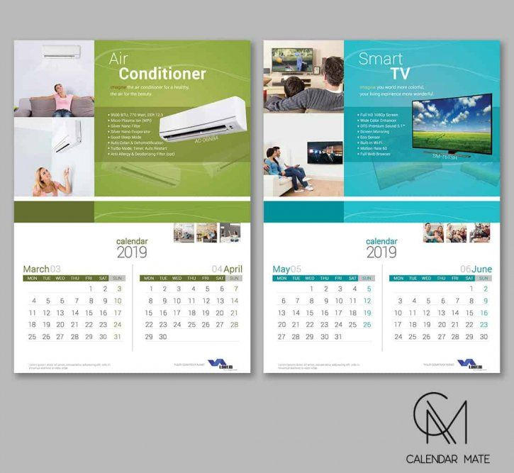 Adel Corporate Product Wall Calendar Design 2019 Psd Kalender