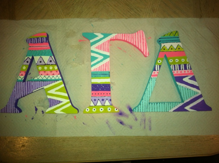 Alpha Gamma Delta funky: do with red, buff, and green???