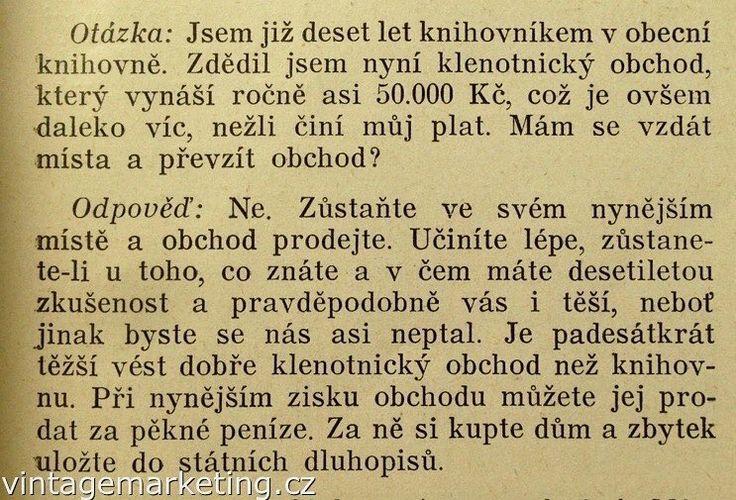 Již 10 let  http://www.vintagemarketing.cz #vintagemarketing knihovníkem.