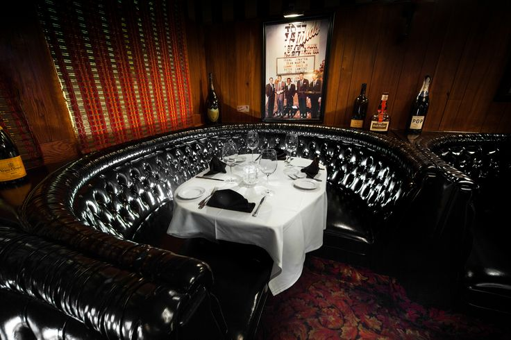 If you're a #Sinatra fan, #Vegas has a cool way for you to celebrate his upcoming 100th birthday. Eat at the Golden Steer steakhouse where the Rat Pack used to hang out and enjoy the same dishes and cocktails that Frank used to order. This is Sinatra's dedicated booth, Booth 22, at the restaurant. We'll raise a glass of Jack Daniels to that!