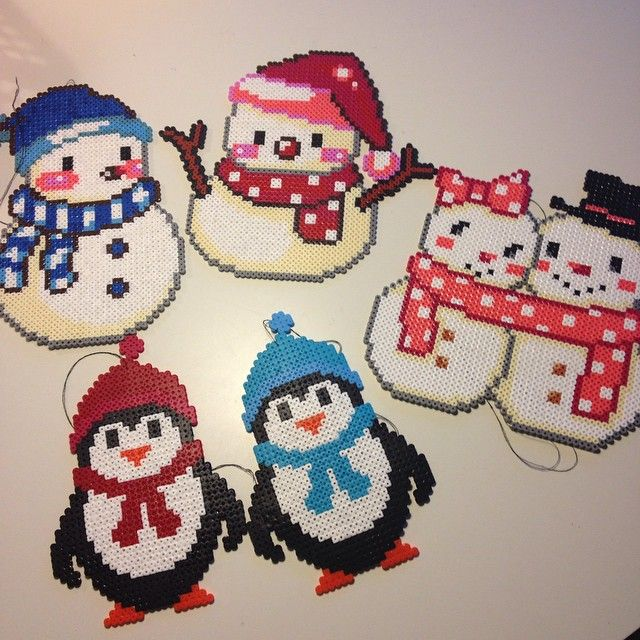 Winter hama perler beads by ladykragh