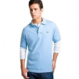 lacoste men polo shirt light sky blue