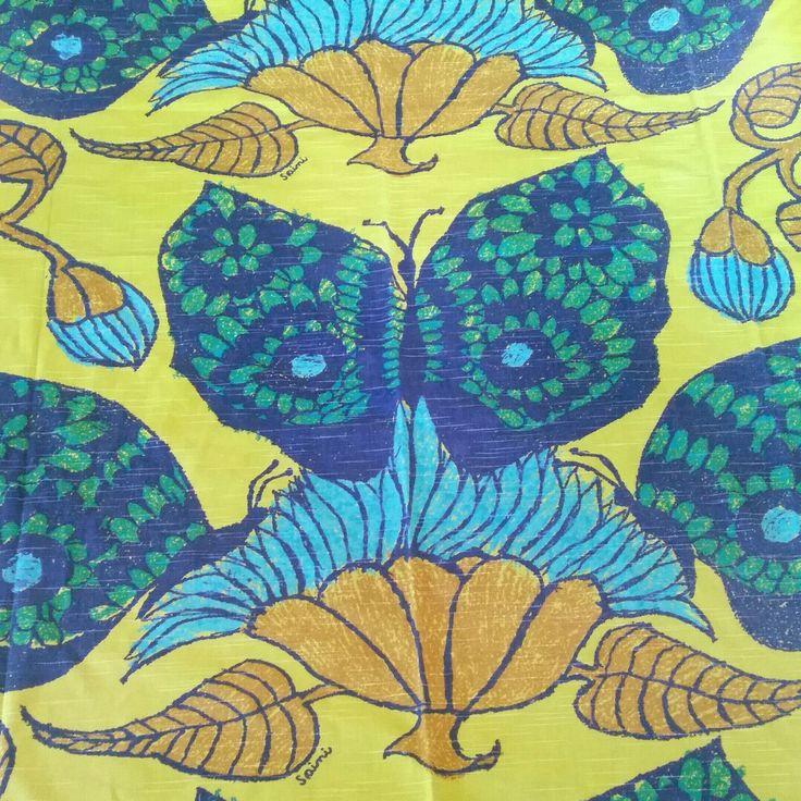 Saini Salonen vintage fabric Peru - butterflies