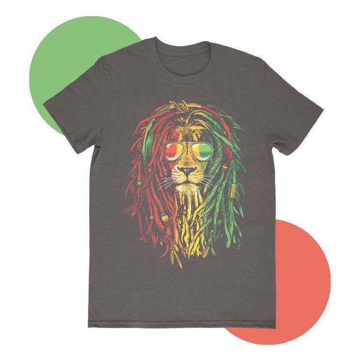 Galaxy Lion Head Youth T-Shirt Reggae Headphones Universe Space Music Kids Tee