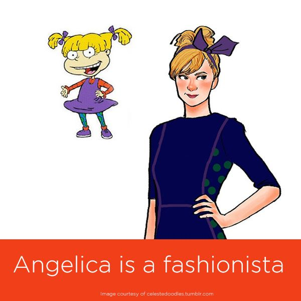 Cartoon Characters Dress Up : Cartoon characters all grown up angelica of rugrats fan