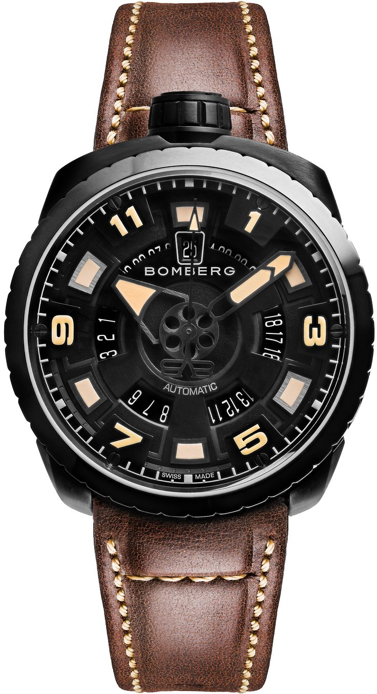 BOLT-68 Brown and Black Automatic - BOMBERG - Defiant & Provacative Swiss Made Watches